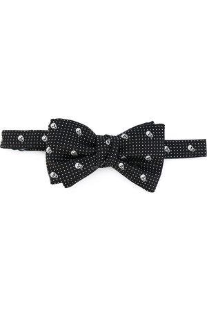 Alexander McQueen Homem Laços de Colarinho - Skull-print bow tie