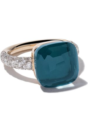 Pomellato 18kt rose & white gold Nudo topaz & diamond ring