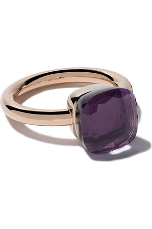 Pomellato 18kt rose & white gold Nudo amethyst ring