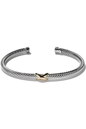 David Yurman Senhora Pulseiras - 18kt yellow gold X silver cuff bracelet