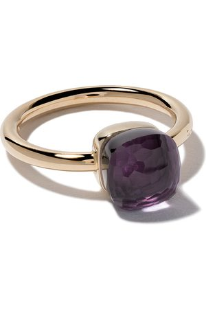 Pomellato 18kt rose & white gold small Nudo amethyst ring