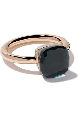 Pomellato 18kt rose & white gold Nudo topaz ring