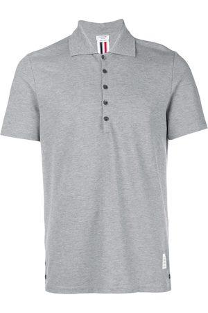Thom Browne Homem Pólos - Center-Back Stripe Relaxed Fit Short Sleeve Pique Polo