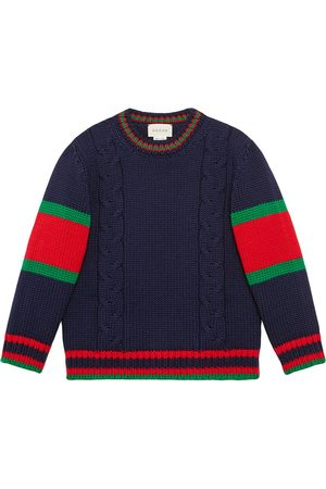 Gucci Children's cable knit wool sweater