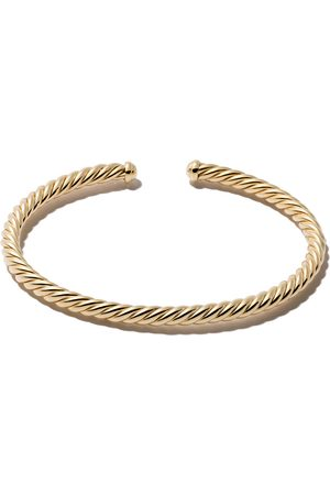 David Yurman 18kt yellow gold Cable Spira cuff bracelet