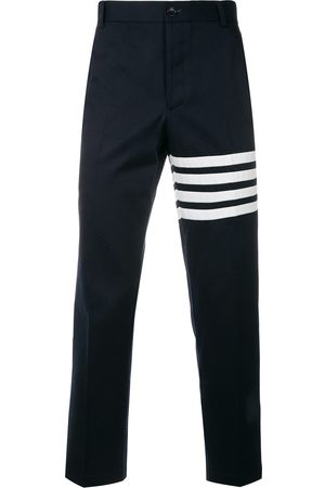 Thom Browne Homem Calças Chino - Seamed 4-Bar Stripe Unconstructed Chino Trouser In Cotton Twill