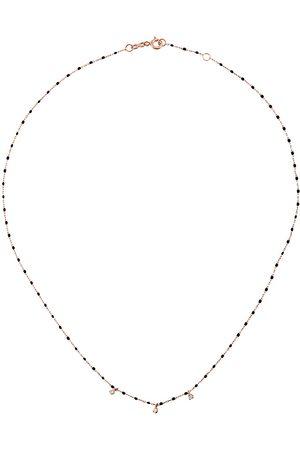 GIGI CLOZEAU RG bead diamond and rose gold necklace