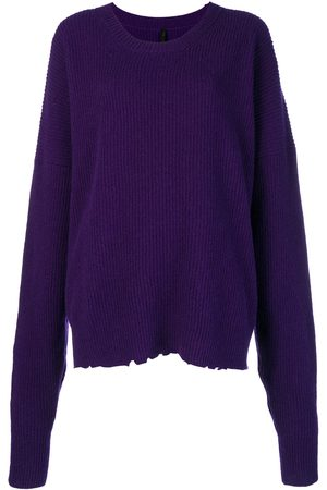 Unravel Project Oversized distressed crew-neck sweater
