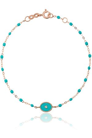 GIGI CLOZEAU Turquoise madone diamond and rose gold bracelet