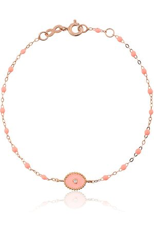 GIGI CLOZEAU Salmon RG bead diamond and rose gold bracelet