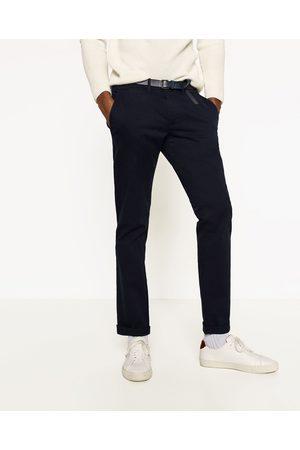 Homem Calças Chino - Zara CALÇAS ESTILO CHINO - Disponível em mais cores
