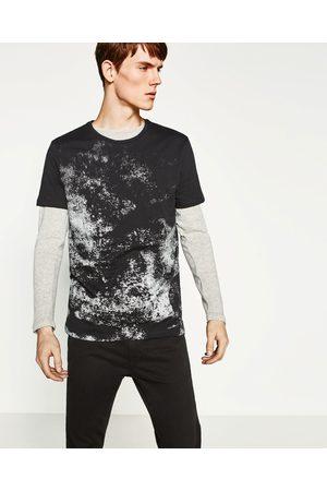 Homem T-shirts & Manga Curta - Zara T-SHIRT PRATA - Disponível em mais cores