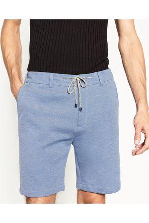 Homem Bermudas - Zara BERMUDAS PIQUÉ - Disponível em mais cores