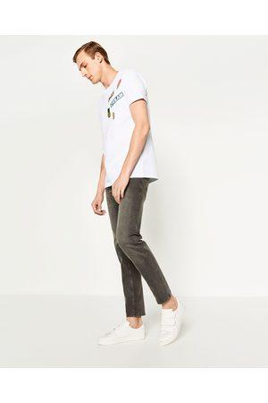 Homem Slim - Zara CALÇAS DE GANGA SLIM FIT - Disponível em mais cores