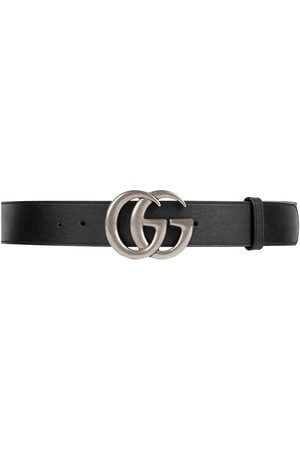 Gucci Homem Cintos - Leather belt with Double G buckle