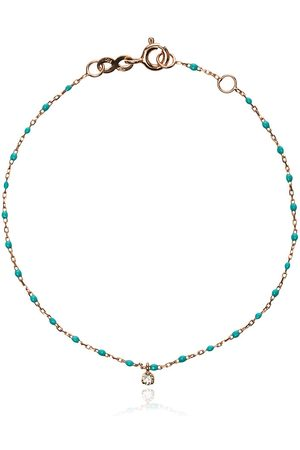 GIGI CLOZEAU 18k rose gold turquoise beaded single diamond bracelet