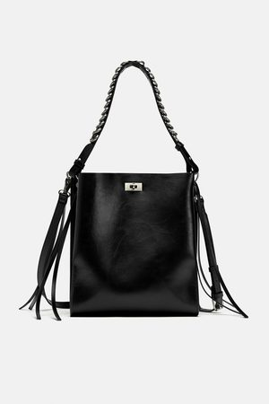 Zara SHOULDER BAG ALÇA COM PORMENOR DE AROS
