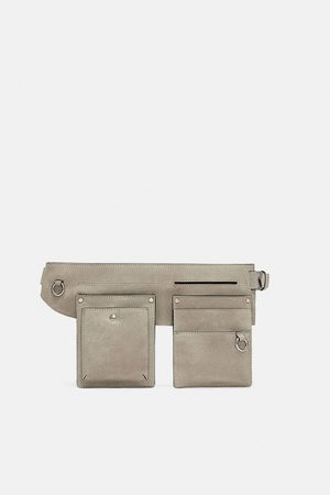 Zara JOIN LIFE SPLIT SUEDE BELT BAG