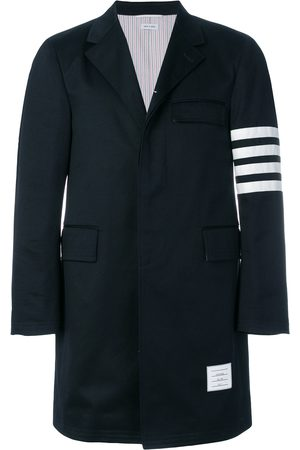 Thom Browne Homem Casacos - Unconstructed 4-Bar Stripe Classic Chesterfield Overcoat