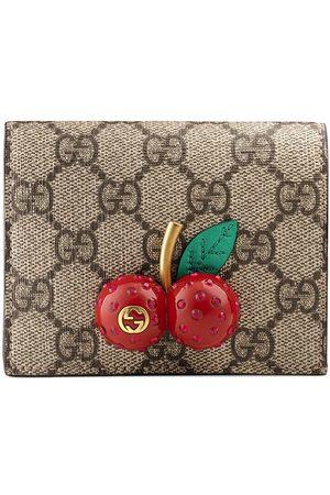 Gucci Senhora Bolsas & Carteiras - GG Supreme card case with cherries