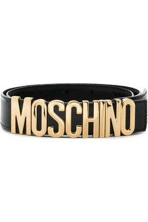 Moschino Senhora Cintos - Leather Logo Belt