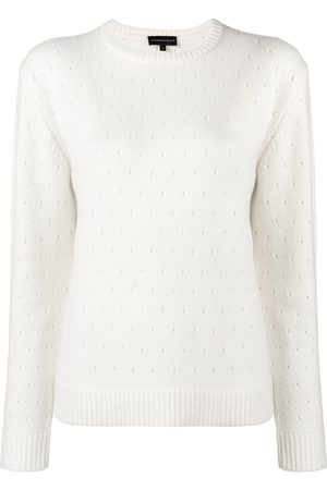 Cashmere In Love Cashmere perforated pattern jumper