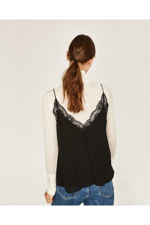Senhora Tops & T-shirts - Zara TOP ESTILO LINGERIE RENDA