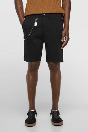 Zara Homem Bermudas - Calções bermuda com corrente