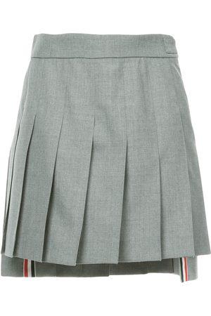 Thom Browne Dropped Back Mini Pleated Skirt In School Uniform Plain Weave