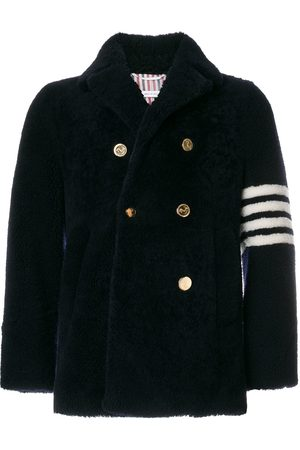 Thom Browne Unconstructed Classic Shearling Peacoat