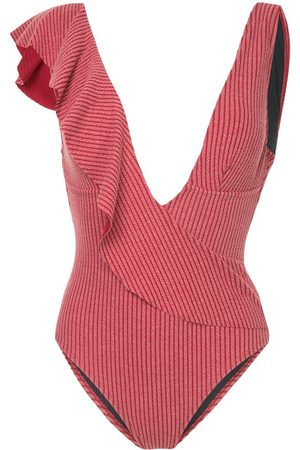 Duskii Senhora Fatos-de-banho - Bella braided ruffle swimsuit