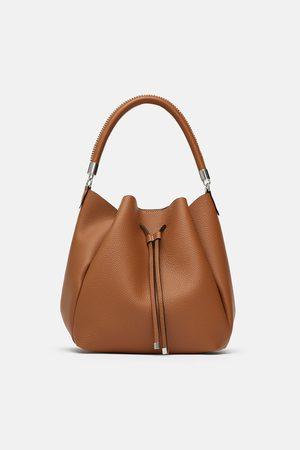 Zara SHOULDER BAG COM PESPONTO