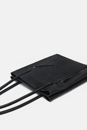 Zara TOTE BAG OFFICE COM FECHOS DE CORRER