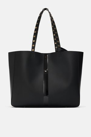 Zara TOTE BAG COM PORMENOR DE VINIL