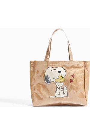Zara TOTE BAG DE VINIL SNOOPY@