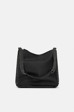 Zara SHOULDER BAG COM PORMENOR DE CORRENTES