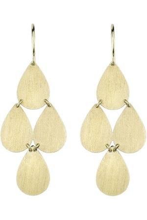 Irene Neuwirth 18kt gold four drop earrings