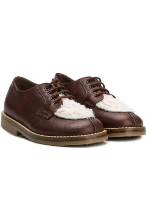 PèPè Contrast panel lace-up shoes