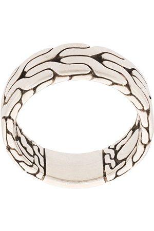 John Hardy Silver Classic Chain Band Ring