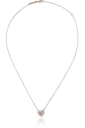 Suzanne Kalan 18kt rose heart diamond necklace