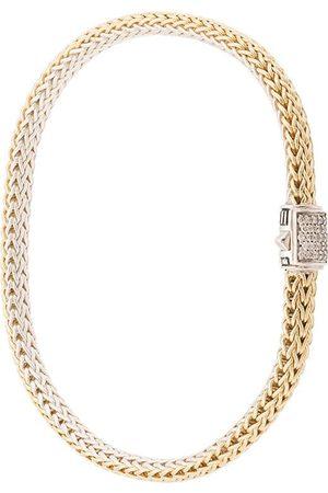 John Hardy Senhora Pulseiras - 18kt yellow and sterling silver reversible Classic Chain diamond bracelet