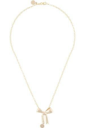 Karen Walker 9kt gold bow pendant necklace