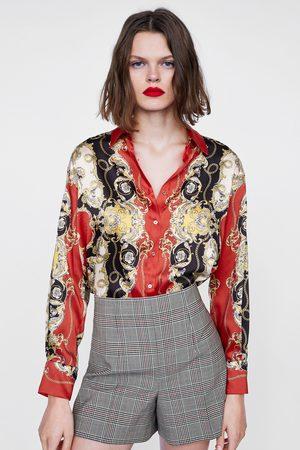 Zara CHECK BERMUDA SHORTS