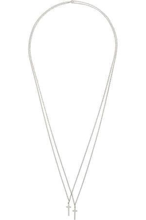 Dsquared2 Homem Colares - Double cross necklace