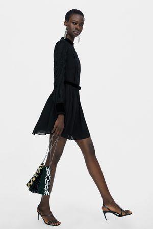 Zara SHOULDER BAG DE FESTA COM PATCHWORK