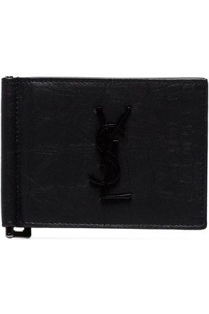 Saint Laurent Leather money clip wallet