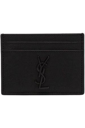 Saint Laurent Homem Bolsas & Carteiras - Monogram logo plaque cardholder