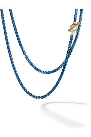 David Yurman 14kt yellow gold and coloured steel DY Bel Aire necklace