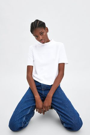 Zara T-shirt gola alta soft touch