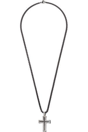 David Yurman Chevron Cross black diamond pendant